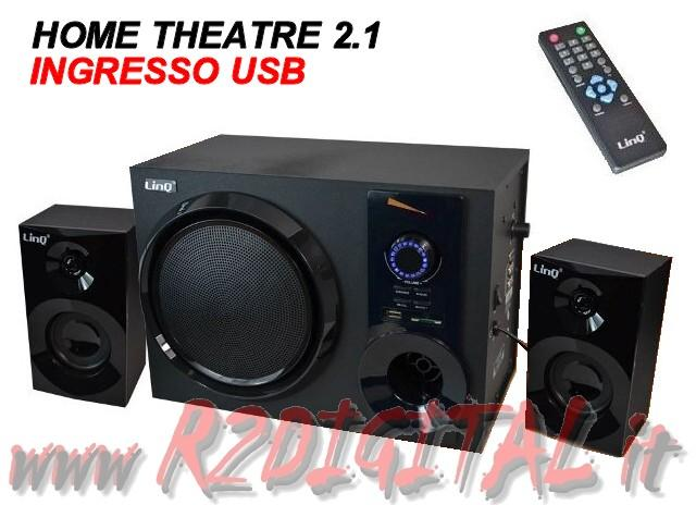 HIFI A3308 ALTOPARLANTI 2.1 TV CASSE PC HOME THEATRE RADIO + USB